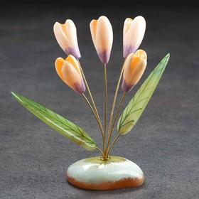 Цветы «Подснежники», 5 цветков, селенит