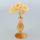 Сувенир «Незабудки в вазе», 3 цветка, 6×16 см, селенит