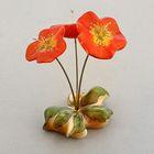Сувенир «Букет», большой, с росписью, 3 цветка, селенит