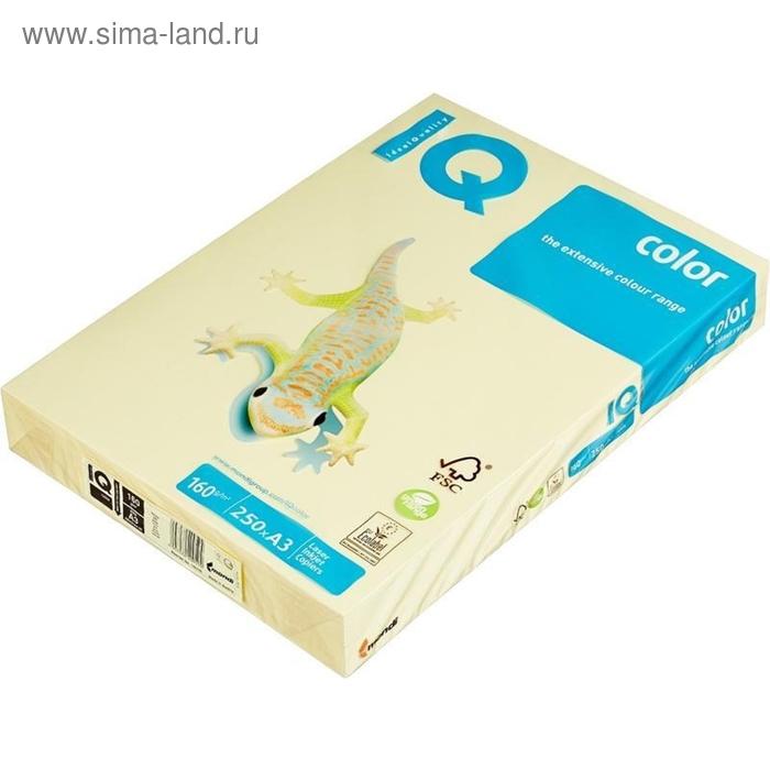 Бумага цветная IQ COLOR (А3,160г,YE23-желтый) пачка 250л.