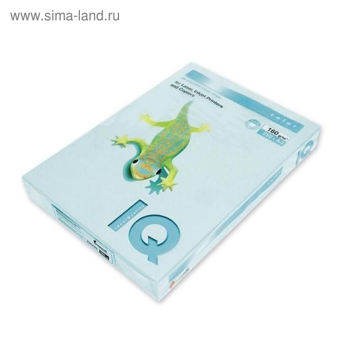 Бумага цветная IQ COLOR (А3,160г,МВ30-голубой) пачка 250л.