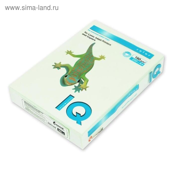Бумага цветная IQ COLOR (А4,160г,GN27-светло-зеленый) пачка 250л.