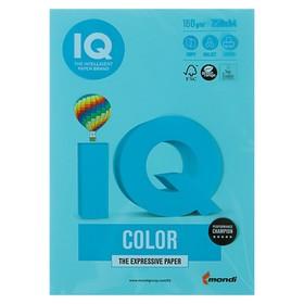 Бумага цветная А4 250 л, IQ COLOR, 160 г/м2, голубой, MB30