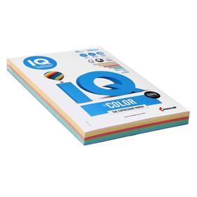 Бумага цветная А4 250 л, IQ COLOR, 80 г/м2, 20,23,25,28,30 по 50 л