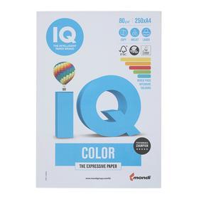 Бумага цветная А4 250 л, IQ COLOR, 80 г/м2, 39,40,44,42,48 по 50 л