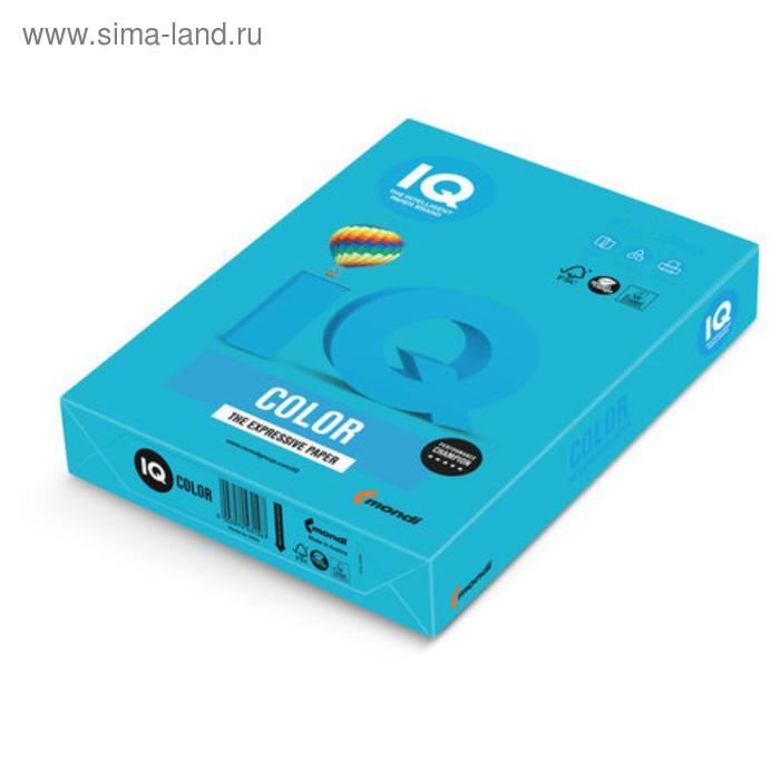 Бумага цветная IQ COLOR (А4,80г,AB48-светло-синий) пачка 500л.