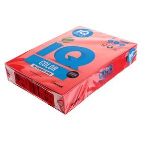 Бумага цветная А4 500 л, IQ COLOR, 80 г/м2, красный, CO44