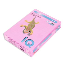 Бумага цветная А4 500 л, IQ COLOR, 80 г/м2, розовый неон, NEOPI