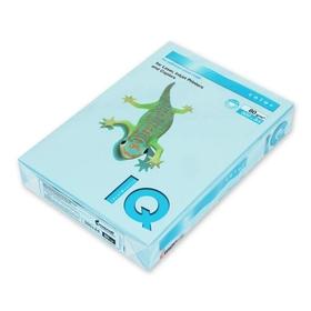 Бумага цветная А4 500 л, IQ COLOR, 80 г/м2, голубой лед, OBL70
