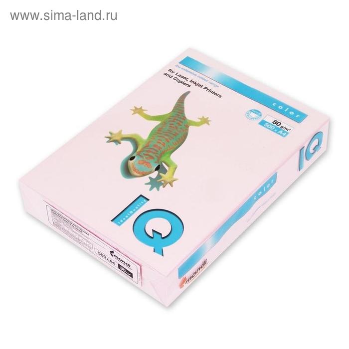 Бумага цветная IQ COLOR (А4,80г,OP174-розовый фламинго) пачка 500л.