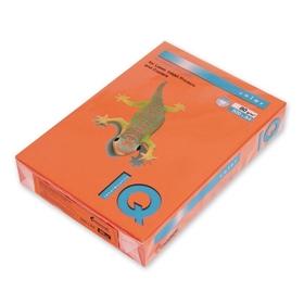 Бумага цветная А4 500 л, IQ COLOR, 80 г/м2, оранжевый, OR43