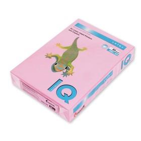 Бумага цветная А4 500 л, IQ COLOR, 80 г/м2, розовый, PI25