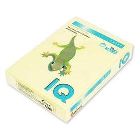 Бумага цветная А4 500 л, IQ COLOR, 80 г/м2, желтый, YE23