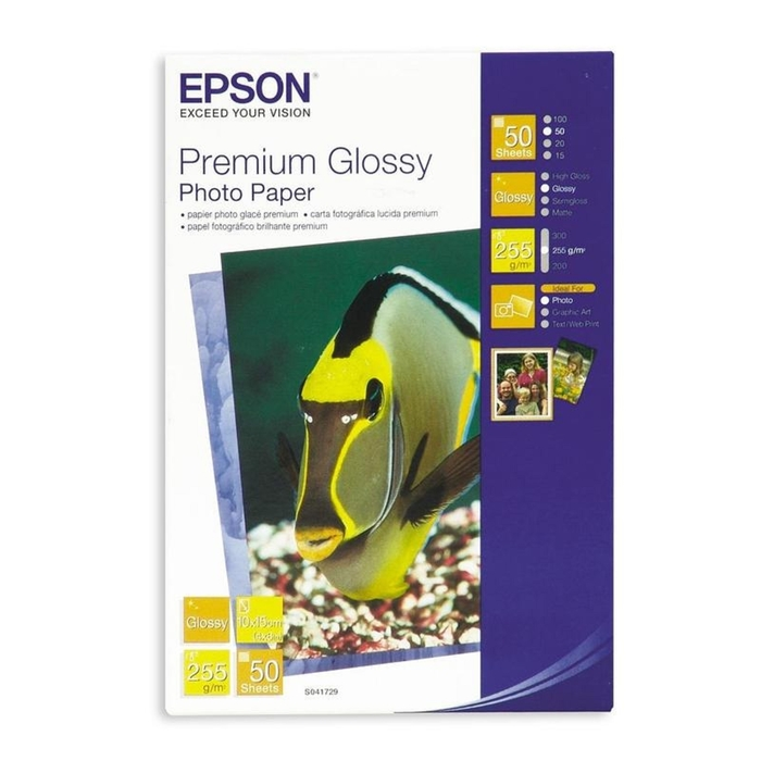 Фотобумага Epson Premium Photo 10x15,255г/м2,50л,глянцевая s041729