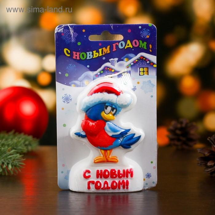 """Свеча-барельеф """"Снегирь"""""""