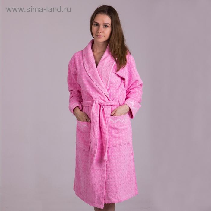 Халат  женский, размер 48, цвет розовый 2017