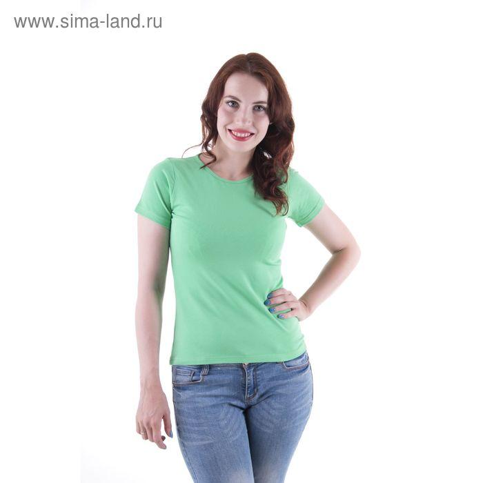 Футболка женская, размер 50-52 (XL), цвет светло-зелёный (арт.VSE25prn)