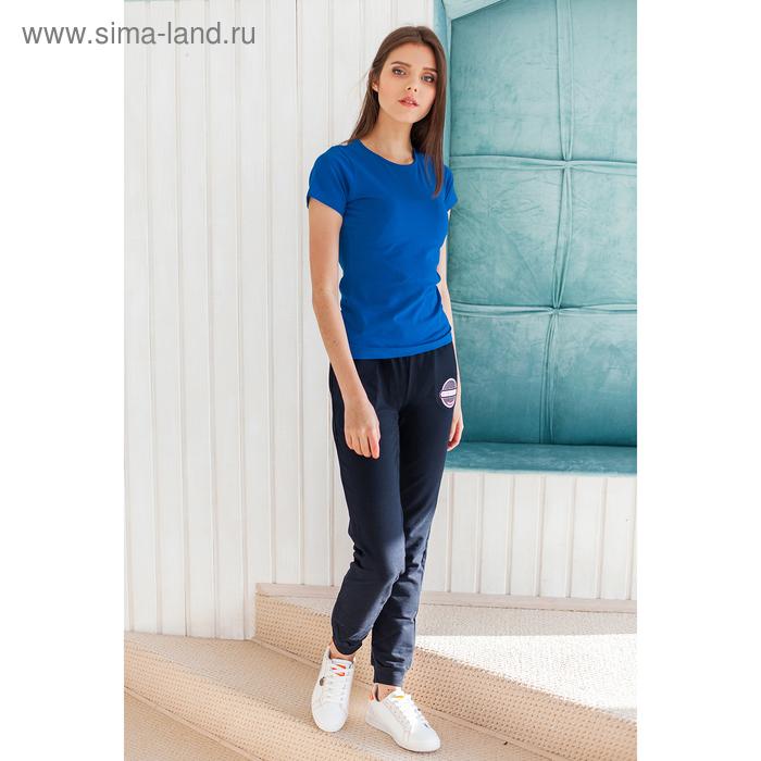 Футболка женская, размер 50-52 (XL), цвет синий (арт.VSE25prn)