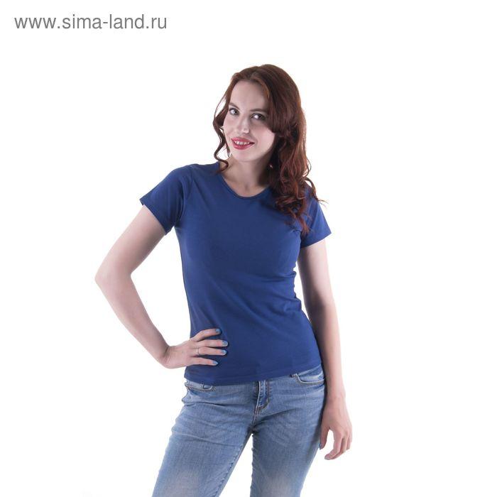 Футболка женская, размер 46-48 (M), цвет тёмно-синий (арт.VSE25prn)