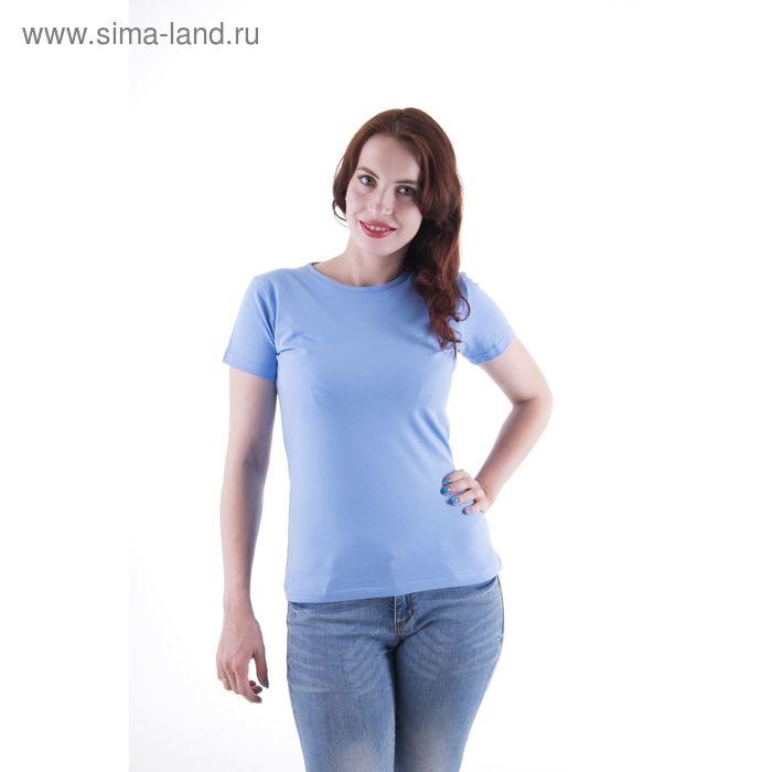 Футболка женская, размер 46-48 (M), цвет светло-голубой (арт.VSE25prn)