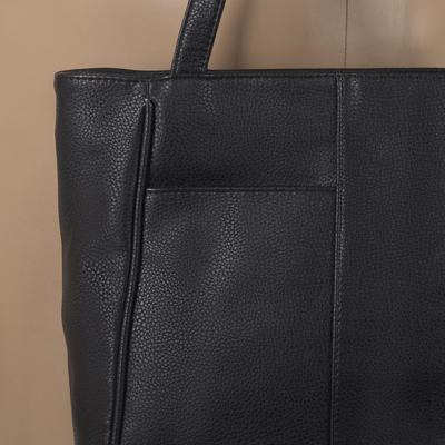 Сумка женская, отдел на молнии, 2 наружных кармана, чёрная