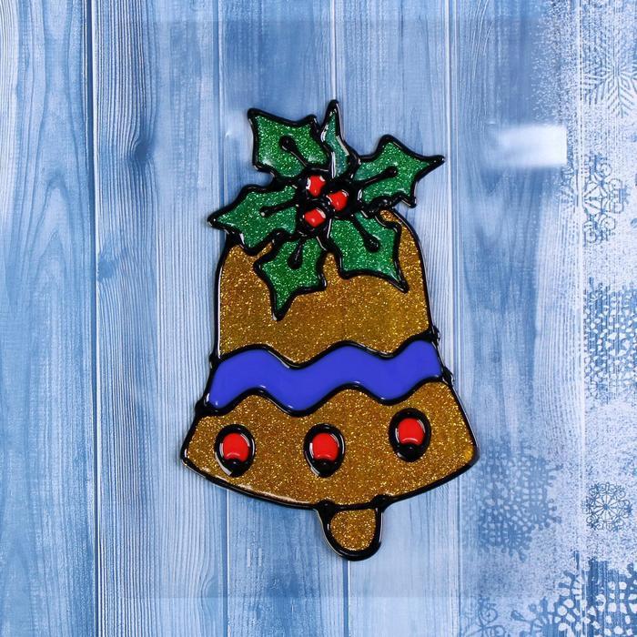"""Наклейка на стекло """"Колокольчик с ягодой"""""""