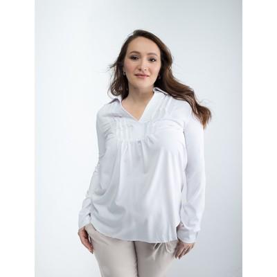 Блузка женская для беременных, размер 50, рост 168, цвет белый (арт. 0084)