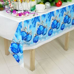 "Tablecloth ""happy New year!""balls , 182 х137см"