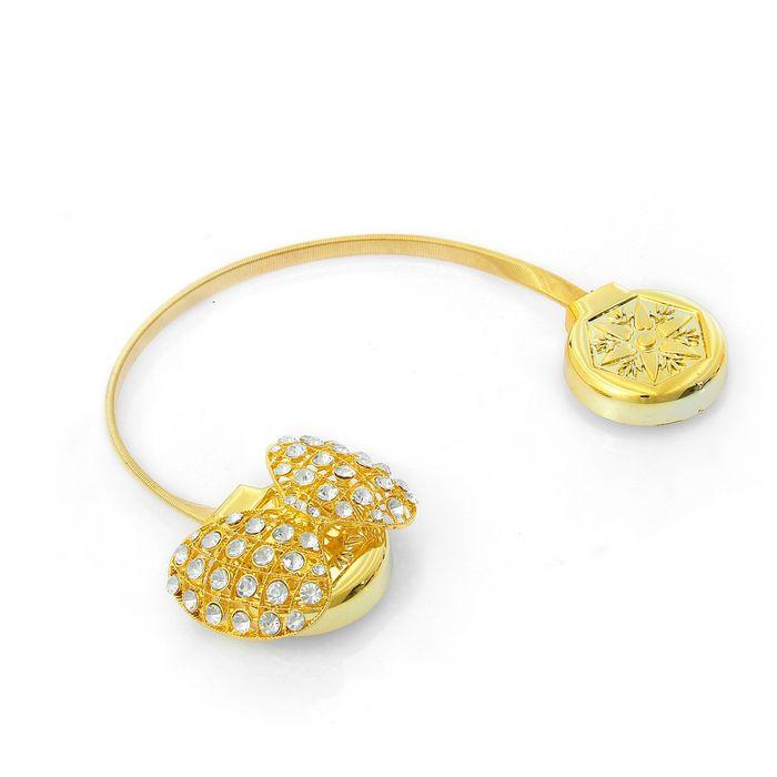 Подхват для штор, пружинная петля «Бабочка», цвет золотой
