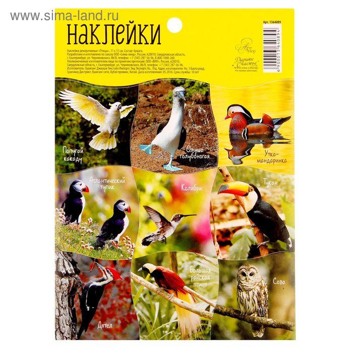 """Наклейки декоративные """"Птицы"""", 11 х 15 см"""