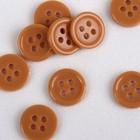 Button, 4 pinholes, d = 10 mm, color sand