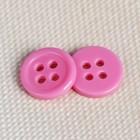 Пуговица классическая на 4 прокола, d=10мм, цвет розовый