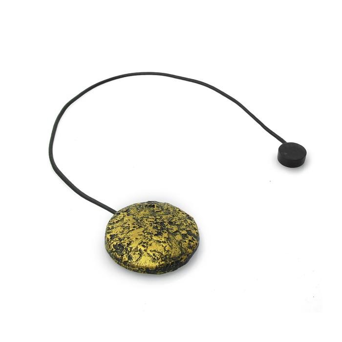 Подхват для штор «Круг», цвет чёрно-золотой