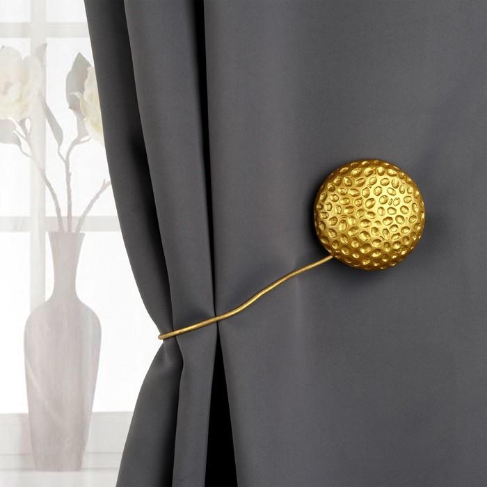 Подхват для штор «Круг», d = 8 см, цвет золотой