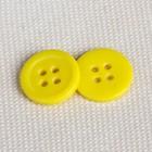 Пуговица, 4 прокола, d = 12 мм, цвет жёлтый