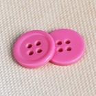Пуговица классическая на 4 прокола, d=12мм, цвет розовый
