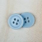 Пуговица, 4 прокола, d = 12 мм, цвет голубой