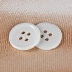 Пуговица, 4 прокола, d = 17 мм, цвет белый