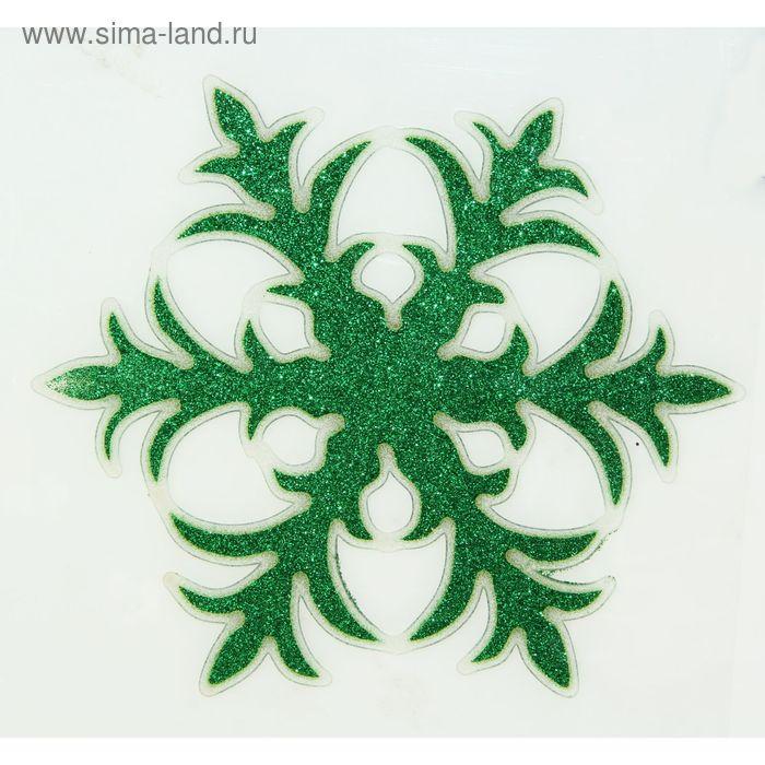 "Наклейка на стекло ""Зелёная снежинка"""