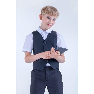 Жилет для мальчика, рост 134 см (9 лет), цвет чёрный (арт. 15-201-1)