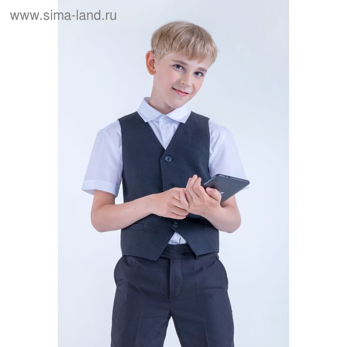 Жилет для мальчика, рост 158 см (13 лет), цвет чёрный (арт. 15-201-1)
