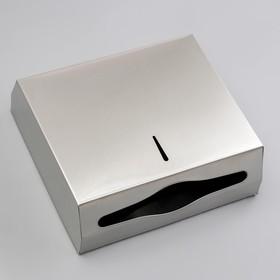 Диспенсер для бумажных листовых полотенец, нержавеющая сталь - фото 1635525