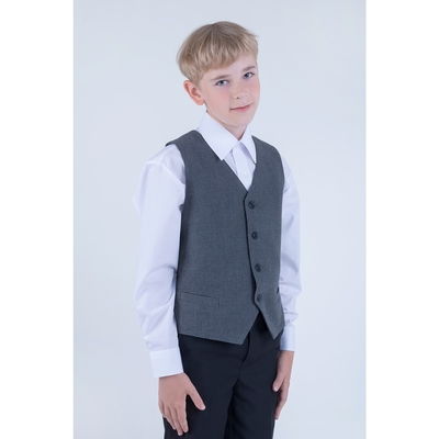 Жилет для мальчика, рост 122 см (7 лет), цвет тёмно-серый (арт. 15-203)