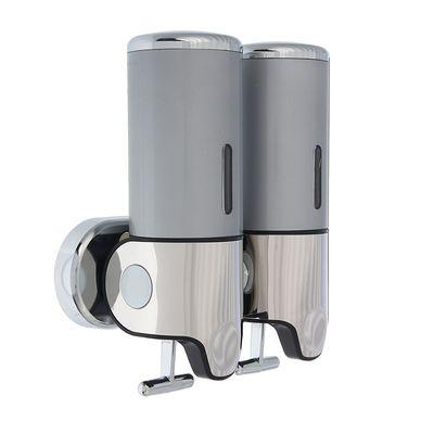 Диспенсер жидкого мыла механический 800 мл, цвет серый
