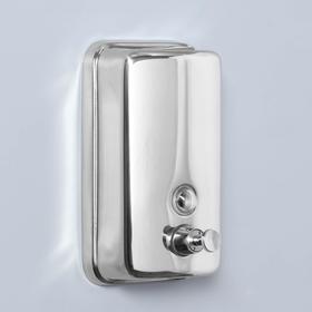 Диспенсер для жидкого мыла механический, 650 мл, нержавеющая сталь