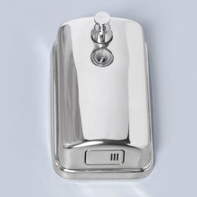 Диспенсер для антисептика/жидкого мыла механический, 650 мл, нержавеющая сталь - фото 1635575