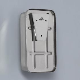 Диспенсер для антисептика/жидкого мыла механический, 650 мл, нержавеющая сталь - фото 1635576