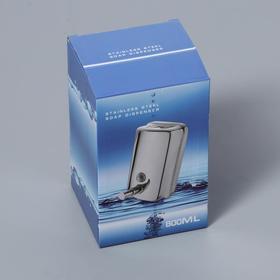 Диспенсер для антисептика/жидкого мыла механический, 650 мл, нержавеющая сталь - фото 1635578