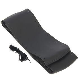 Сшивной чехол на руль, искусственная кожа, 90 х 10 см, серый