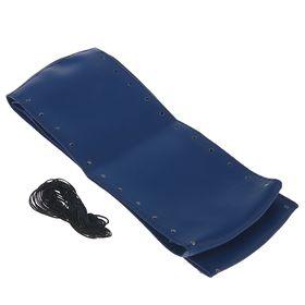 Сшивной чехол на руль, искусственная кожа, 90 х 10 см, синий